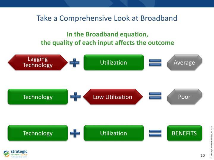 Take a Comprehensive Look at Broadband