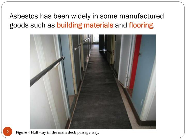 Asbestos has been widely in some manufactured goods such as