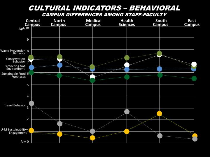 CULTURAL INDICATORS – BEHAVIORAL