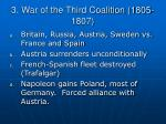 3 war of the third coalition 1805 1807