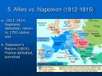 5 allies vs napoleon 1812 1815