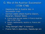 g war of the austrian succession 1739 1748
