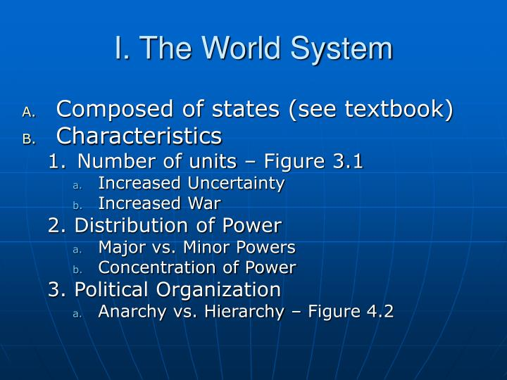 I the world system