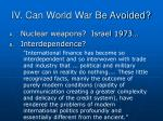 iv can world war be avoided