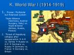 k world war i 1914 1919