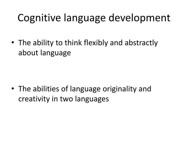 Cognitive l