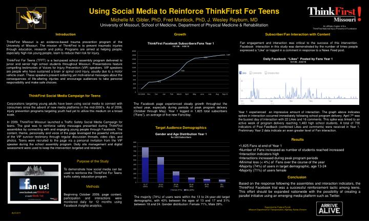 To demonstrate how social media can be used to reinforce the ThinkFirst For Teens traffic safety education program.