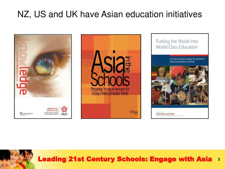 NZ, US and UK have Asian education initiatives