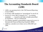 the accounting standards board asb