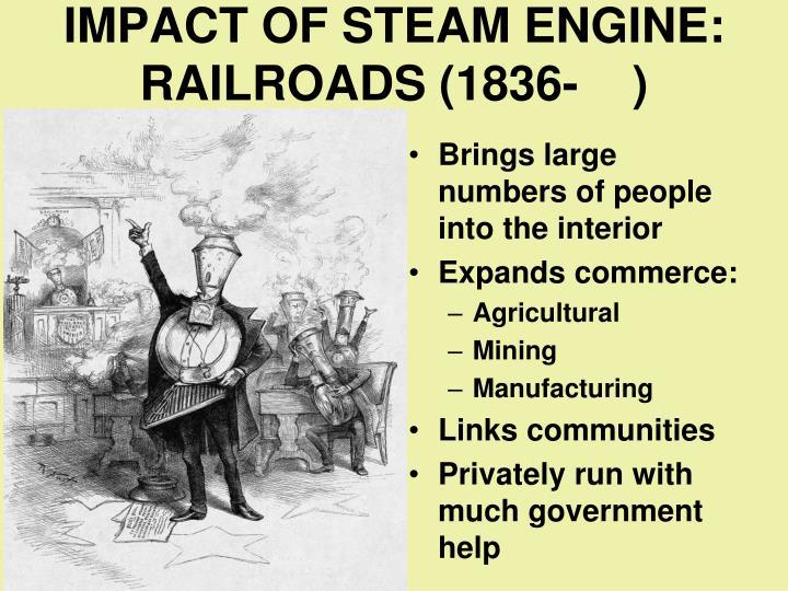 IMPACT OF STEAM ENGINE