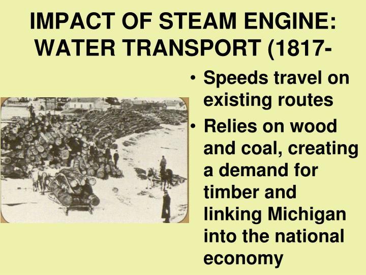 IMPACT OF STEAM ENGINE: