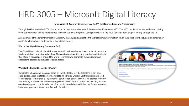 HRD 3005 – Microsoft Digital Literacy