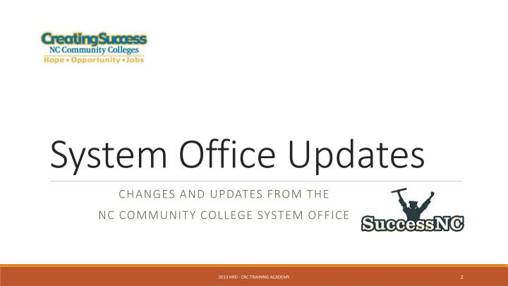 System office updates