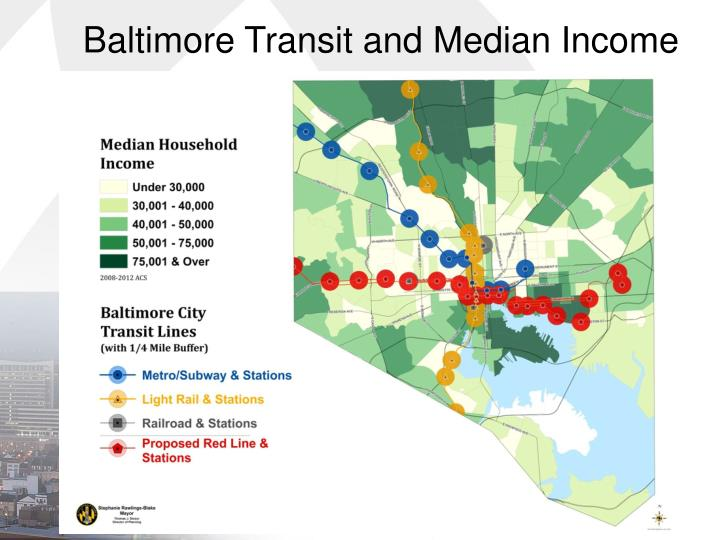 Baltimore Transit and Median Income
