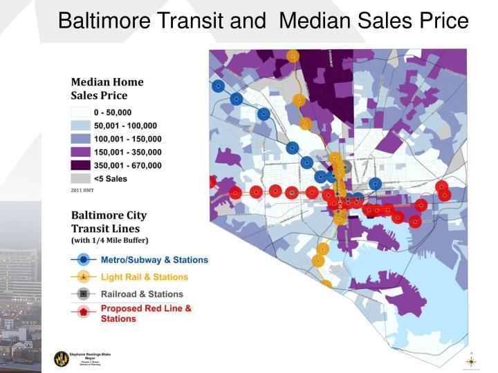 Baltimore Transit and  Median Sales Price