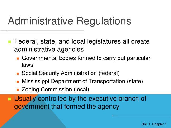 Administrative Regulations