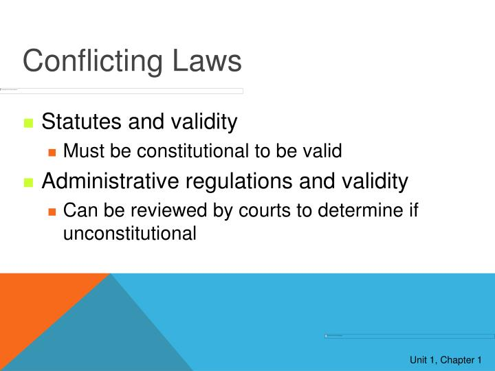 Conflicting Laws