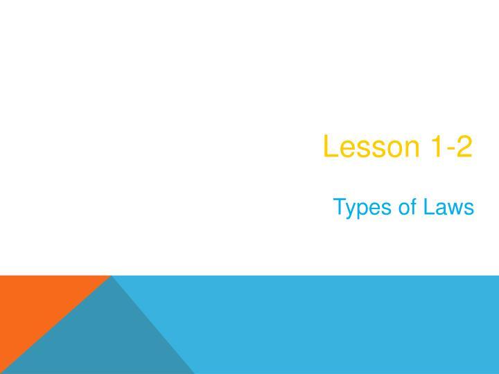 Lesson 1-2
