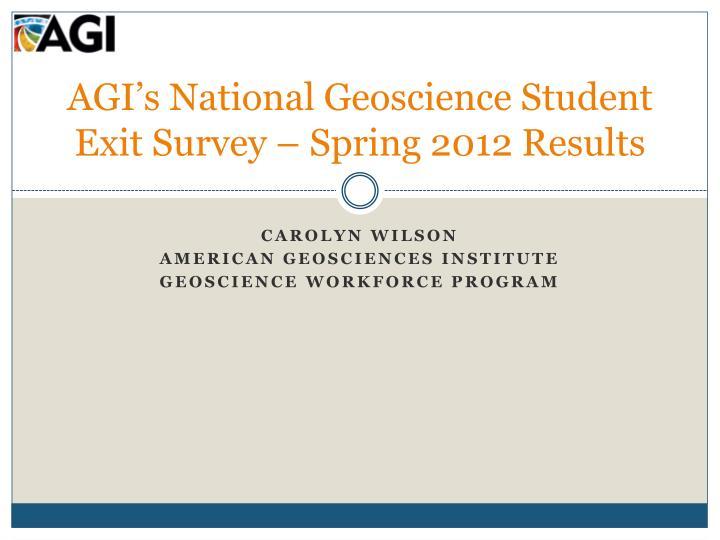 AGI's National