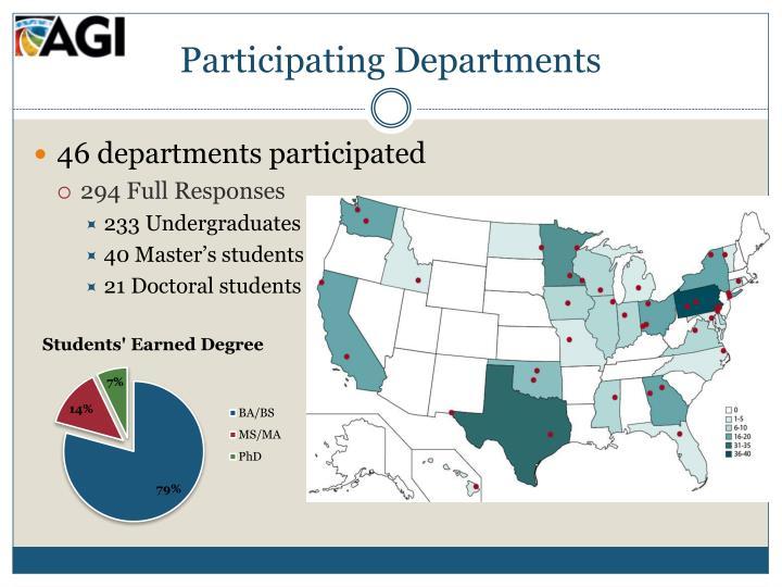 Participating Departments