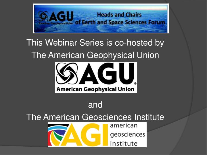 This Webinar Series is co-hosted by