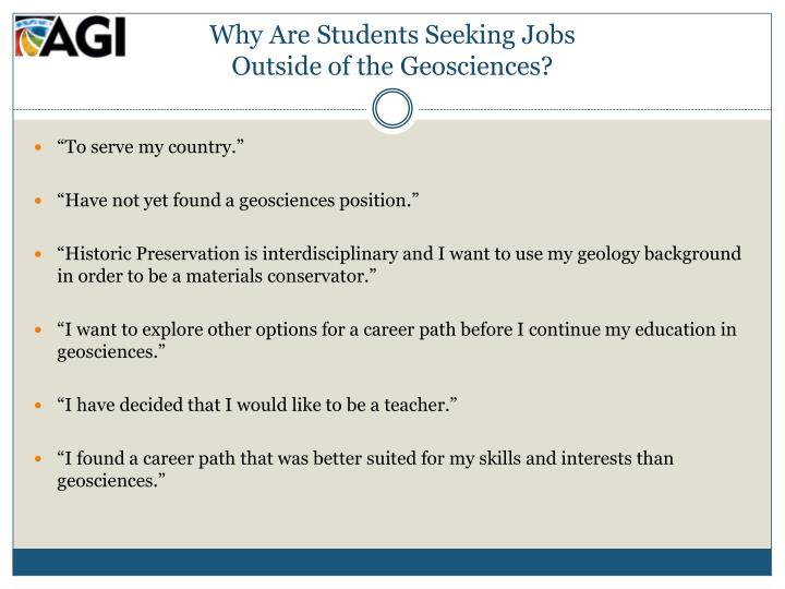 Why Are Students Seeking Jobs