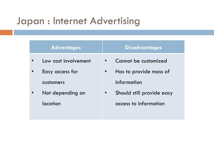 Japan : Internet Advertising