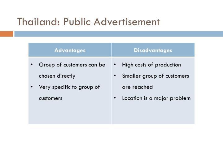 Thailand: Public Advertisement