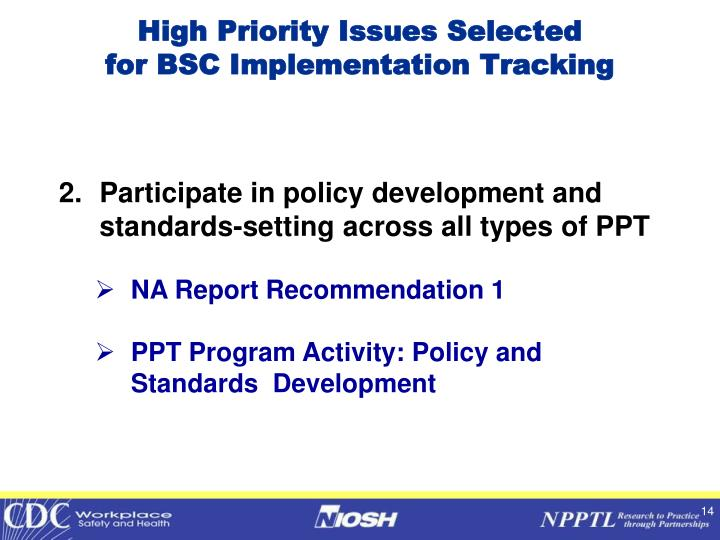 High Priority Issues Selected