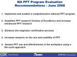 na ppt program evaluation recommendations june 2008