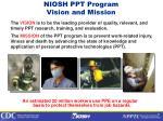 niosh ppt program vision and mission