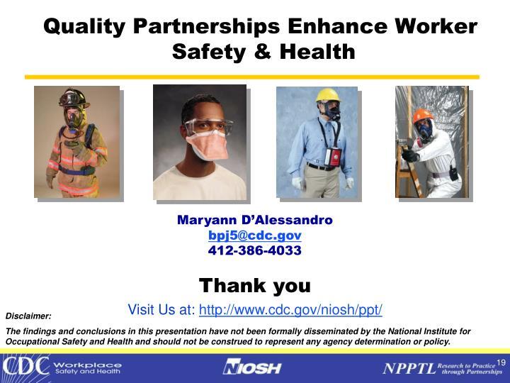 Quality Partnerships Enhance Worker