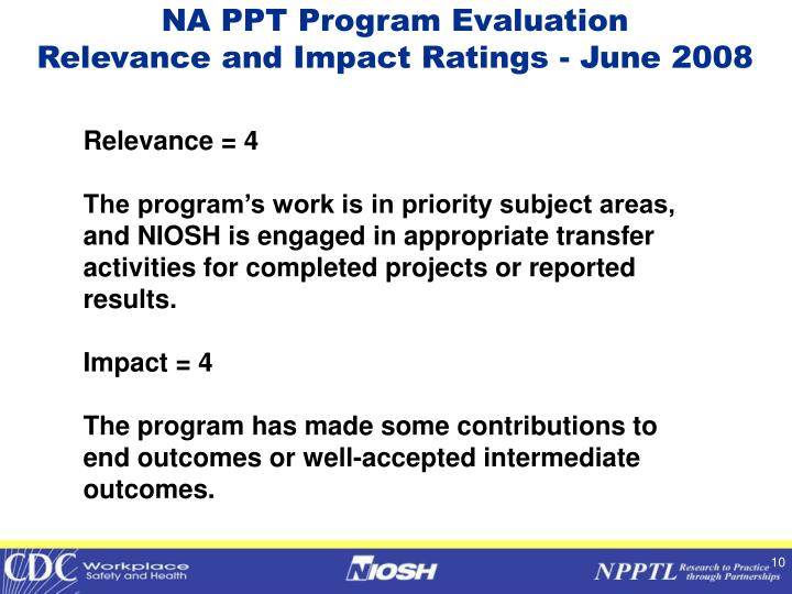 NA PPT Program Evaluation
