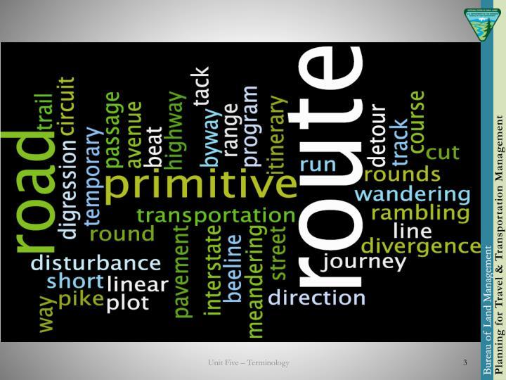 Unit Five – Terminology