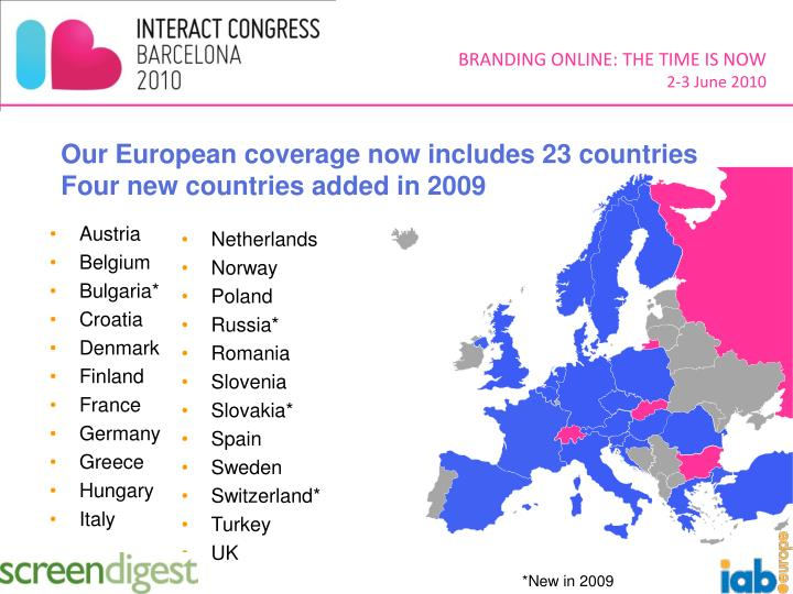 Our European coverage now includes 23 countries