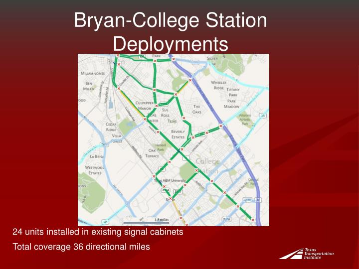 Bryan-College Station Deployments