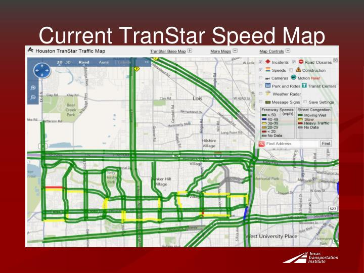 Current TranStar Speed Map