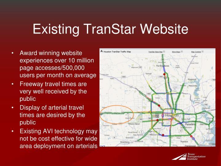 Existing TranStar Website
