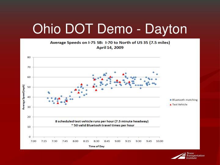 Ohio DOT Demo - Dayton