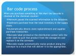 bar code process