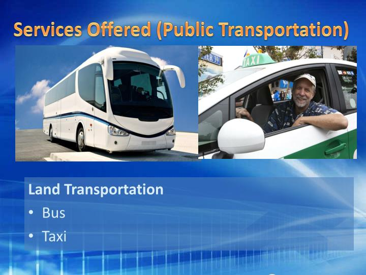 Services Offered (Public Transportation)