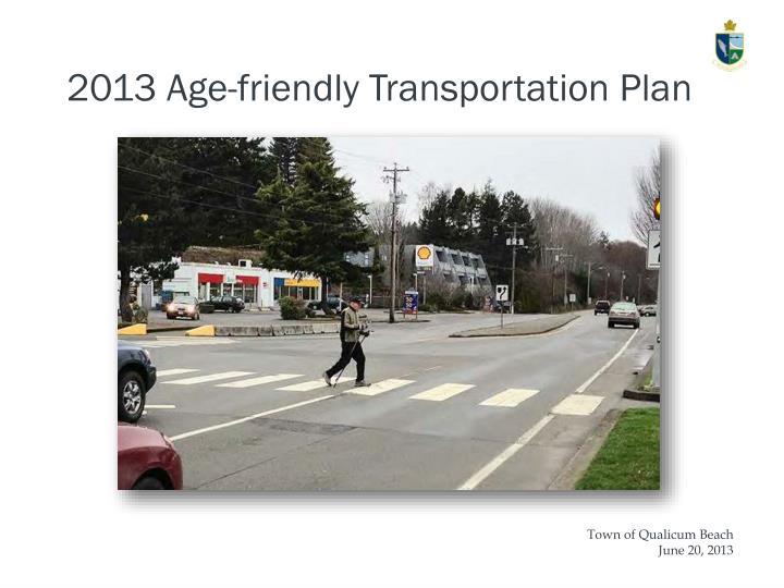 2013 Age-friendly Transportation Plan