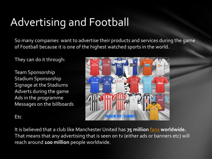 Advertising and Football