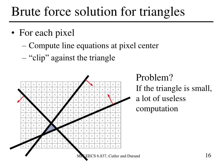 Brute force solution for triangles