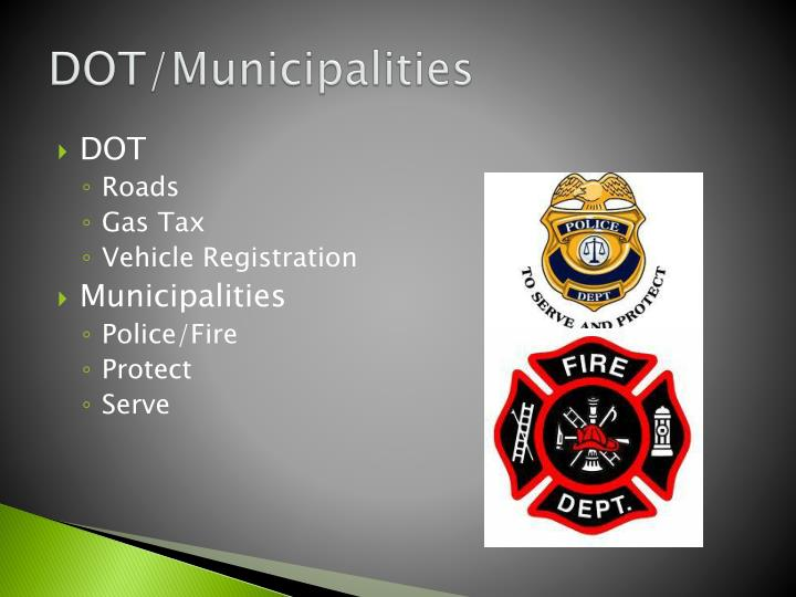 DOT/Municipalities