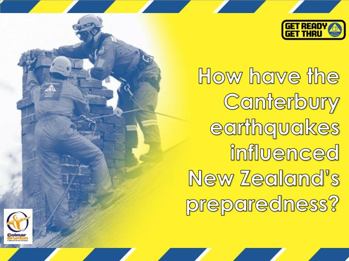 How have the Canterbury earthquakes influenced