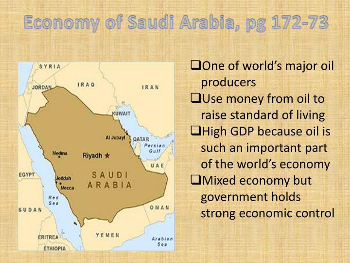 Economy of Saudi Arabia, pg 172-73