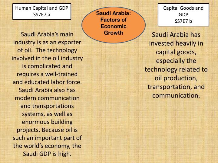 Human Capital and GDP