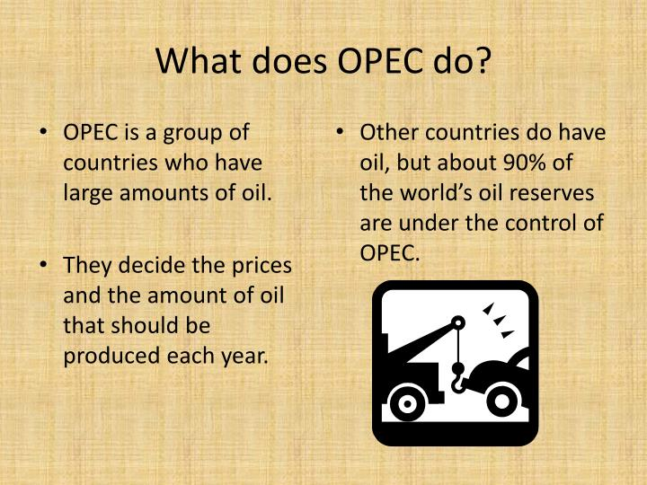 What does OPEC do?