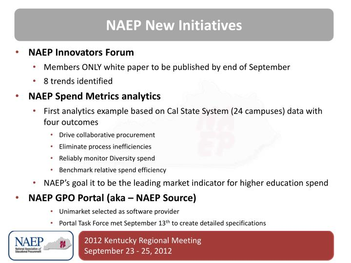 NAEP New Initiatives
